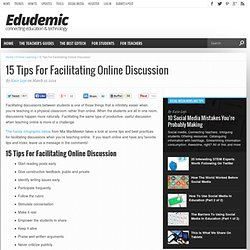 15 Tips For Facilitating Online Discussion