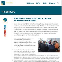 Five Tips for Facilitating a Design Thinking Workshop
