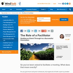 Facilitation - Communication Skills Training from MindTools.com
