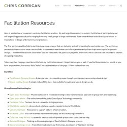 Facilitation Resources – Chris Corrigan