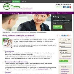 Group Facilitation Techniques & Methods