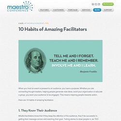 10 Habits of Amazing Facilitators