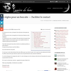 Faciliter les contacts
