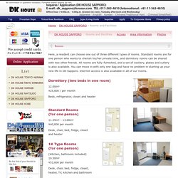 DK HOUSE (Official Website) Apartment houses in the Tokyo and Hokkaido areas with great prices and high-quality furniture.