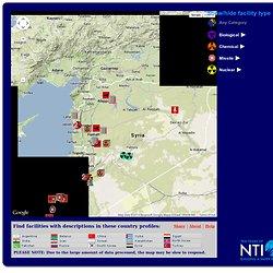 Localizacion instalaciones amenaza nuclear