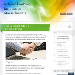 Reliable banking facilities in Massachusetts
