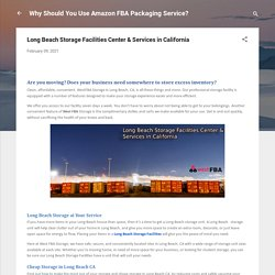 Long Beach Storage Facilities Center & Services in California