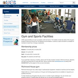 Gym and Sports Facilities - University College Birmingham