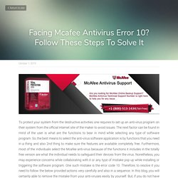 Facing Mcafee Antivirus Error 10? Follow These Steps To Solve It
