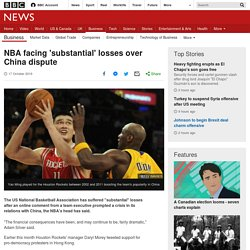 NBA facing 'substantial' losses over China dispute