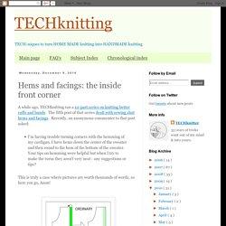 TECHknitting: Hems and facings: the inside front corner