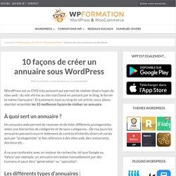 10 façons de créer un annuaire sous WordPress