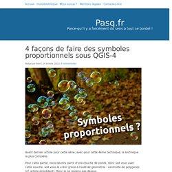 4 façons de faire des symboles proportionnels sous QGIS - Pasq.fr