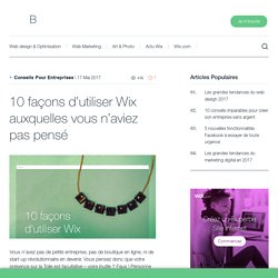 """10 façons d'utiliser Wix auxquelles vous n'aviez pas pensé - Se référer à """"E réputation"""""""