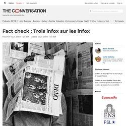 Fact check: Trois infox surlesinfox