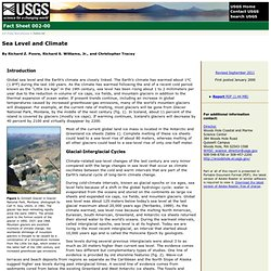 Fact Sheet fs002-00: Sea Level and Climate