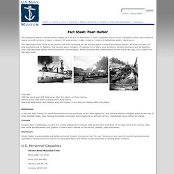 Fact Sheet: Pearl Harbor