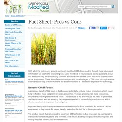 Fact Sheet: Pros vs Cons