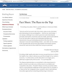 Fact Sheet: The Race to the Top
