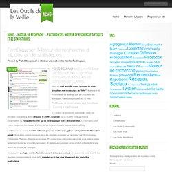 FactBrowser. Moteur de recherche d etudes et de statistiques