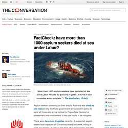 FactCheck: have more than 1000 asylum seekers died at sea under Labor?