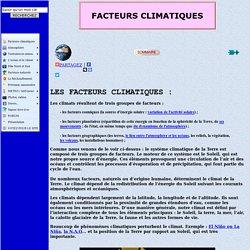 facteurs climatiques