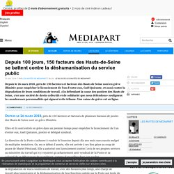 Depuis 100 jours, 150 facteurs des Hauts-de-Seine se battent contre la déshumanisation du service public