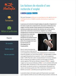 Les facteurs de réussite d'une recherche d'emploi - Magazine - MonEmploi.com