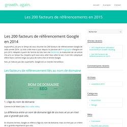 Les 200 facteurs de référencement Google 2014: la liste complète!