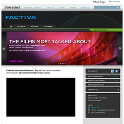 Factiva - business news, business information, financial news, company profiles, executive information