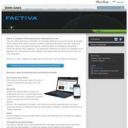 Factiva - French - Dow Jones
