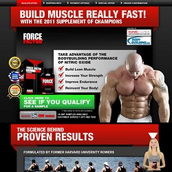 Force Factor: Sports Supplements