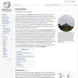 Crop factor