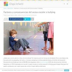 Factores y consecuencias del acoso escolar o bullying - Etapa Infantil