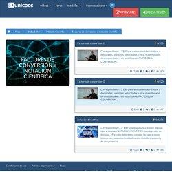 Vídeos de Factores de conversión y notación científica