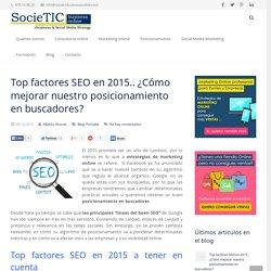 Top factores SEO en 2015 para mejorar el SEO en buscadores