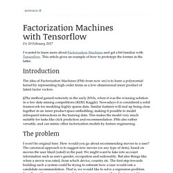 Factorization Machines with Tensorflow