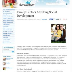 Family Factors Affecting Social Development
