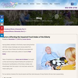 Factors Affecting the Impaired Food Intake of the Elderly