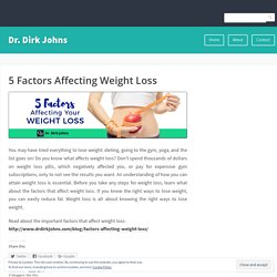 Weight Loss Factors by Dr Dirk Johns