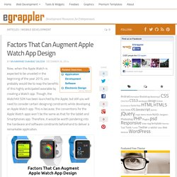 Factors That Can Augment Apple Watch App Design