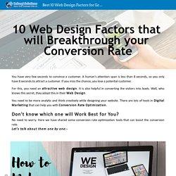 Best 10 Web Design Factors for Grow Business - Cefnogi Solutions