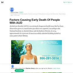 Factors Causing Early Death Of People With AUD