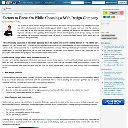 Factors to Focus On While Choosing a Web Design Company by Simon Hopes