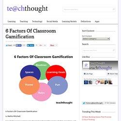 6 Factors Of Classroom Gamification