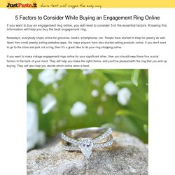 5 Factors to Consider While Buying an Engagement Ring Online
