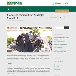 4 Factors To Consider Before You Install A New Roof