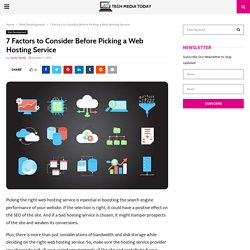7 Factors to Consider Before Picking a Web Hosting Service