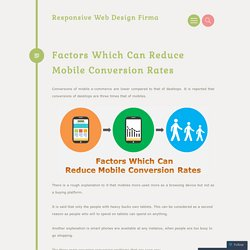 Factors Which Can Reduce Mobile Conversion Rates