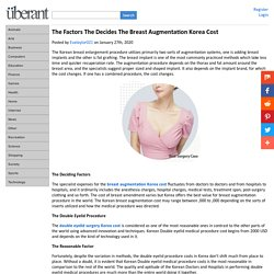 The Factors The Decides The Breast Augmentation Korea Cost